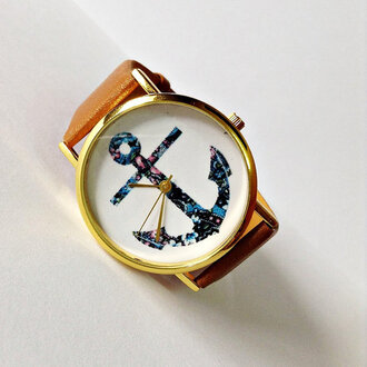 jewels watch handmade style fashion vintage etsy freeforme anchor summer spring father's day fathers day gift ideas nautical