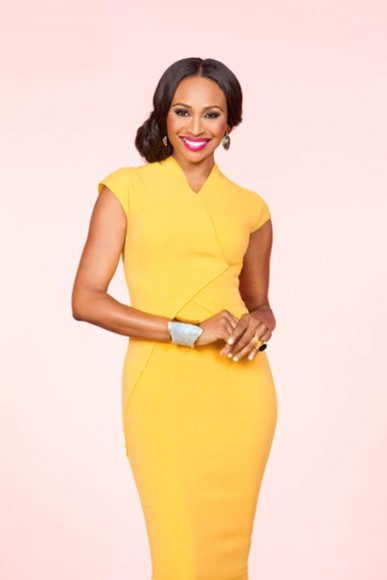 dress yellow dress cynthia bailey rhoa reah housewives of atlanta