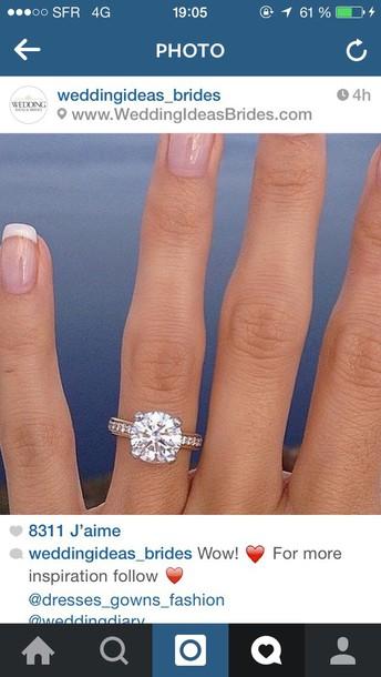 bag engagement ring jewels