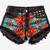 Willow Ethnic Black Vintage Levis Shorts | RUNWAYDREAMZ