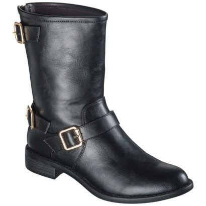 Women's Mossimo® Kyla Buckle Boot - Black : Target