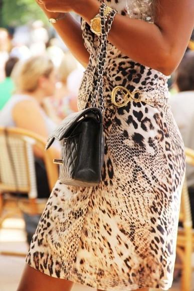 animal print dress dress
