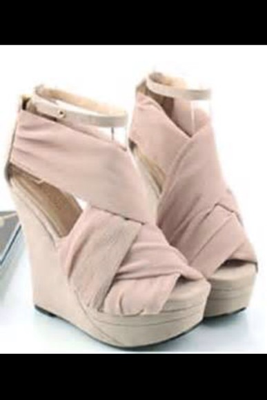 shoes platform shoes wedges high heels pink