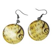 jewels,ziz earrings,music,beautiful earrings,disc earrings,ziziztime