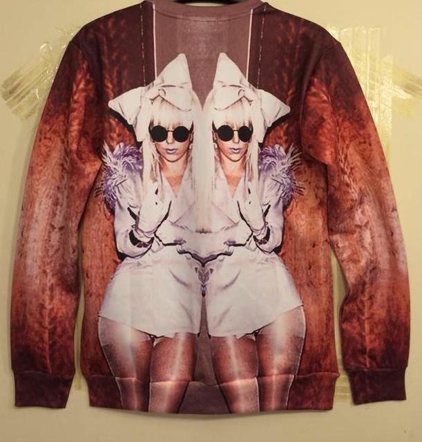 Lady gaga print sexy sweater – glamzelle