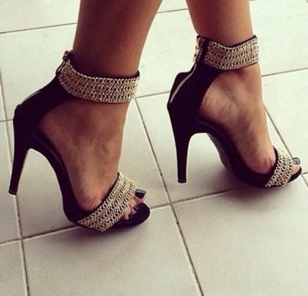 shoes platform shoes gold silver silver shoes black