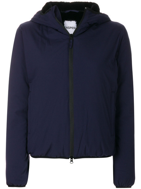 ASPESI jacket hooded jacket women blue