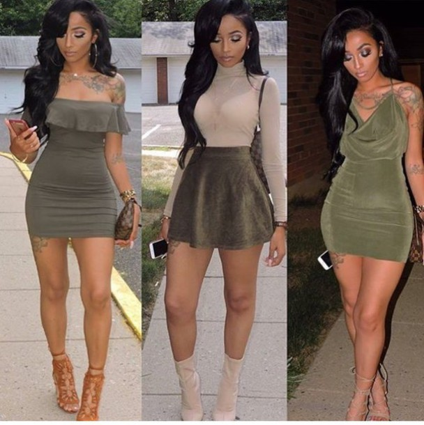 Trendy Olive Green Sexy Party Dresses - Shop for Trendy Olive ...