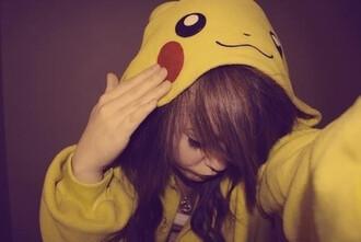 jacket pikachu hoodie cute