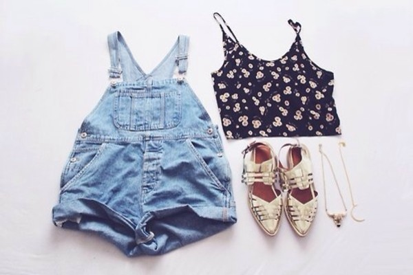 shorts jeans beautiful tank top