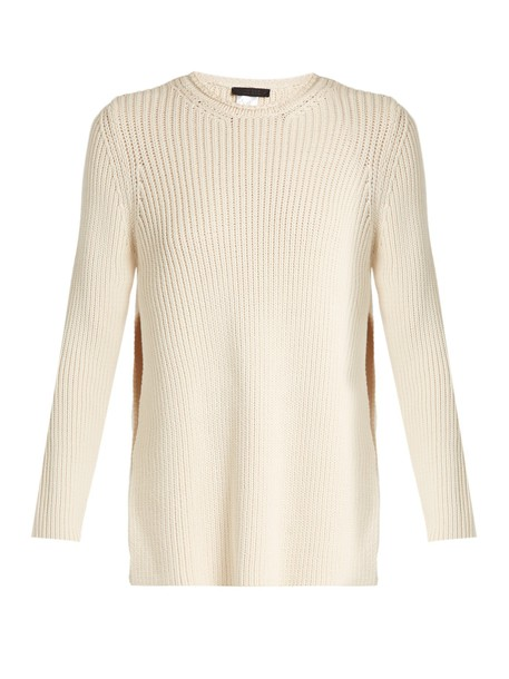 The Row sweater cotton knit beige