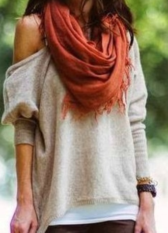 shirt grey sweater off the shoulder sweater slouchy