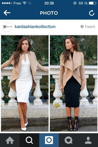 coat nude kim kardashian dress dress