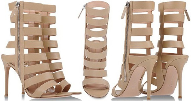 nude high heels heels sandals leather sandals