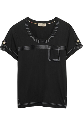 t-shirt shirt cotton black top