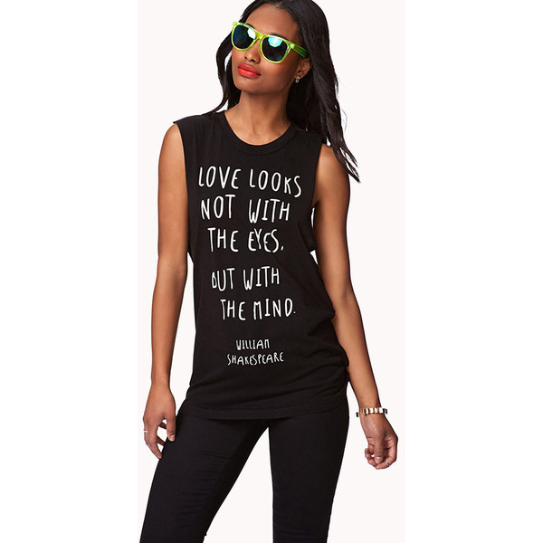 Forever 21 shakespeare muscle tee