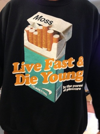 hipster romper live fast die young retro black romper cigarettes