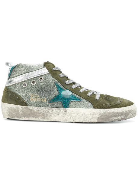 GOLDEN GOOSE DELUXE BRAND women sneakers leather cotton green shoes