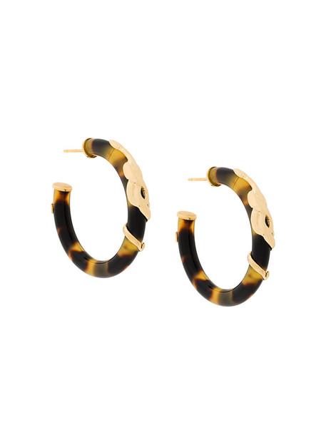women earrings gold brown jewels