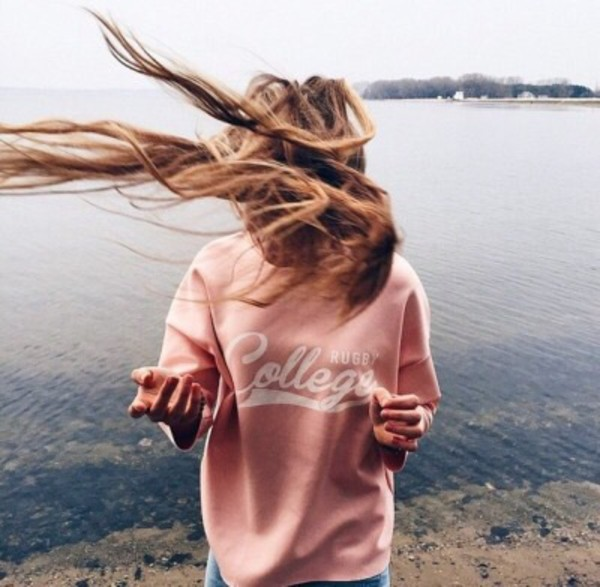 sweater sweatshirt pink sweater