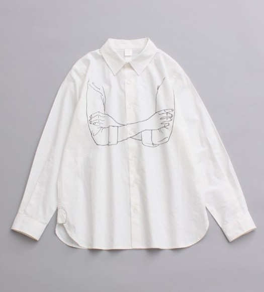 blouse white blouse suit drawing look like a acne or something