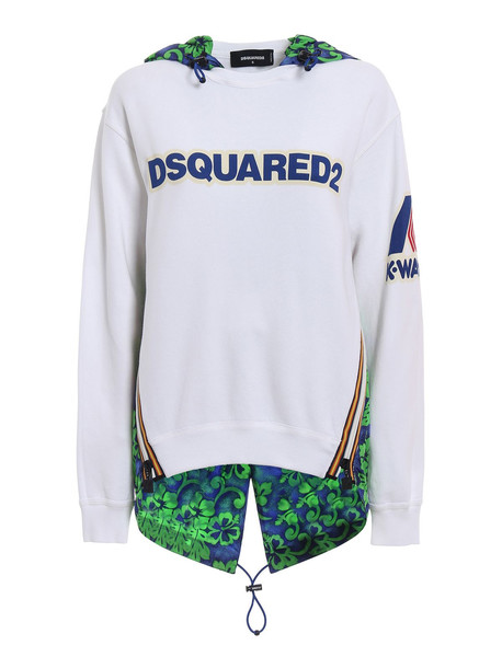 Dsquared2 Paneled Hoodie in white