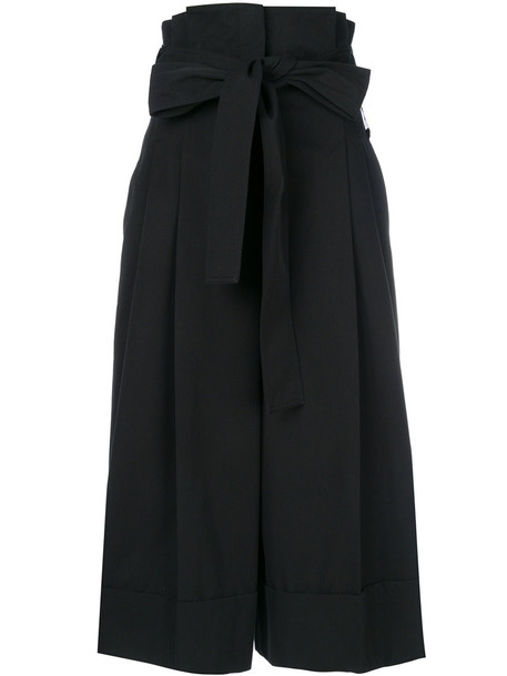 Alexander Mcqueen culottes women cotton black pants