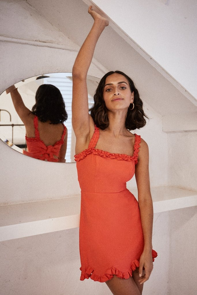 CHIQUITA MINI DRESS red