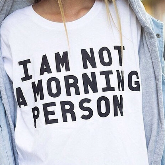 acid wash denim morning jacket juper jumper owl cotton sleep pajamas pj pajamas pajamas iamnotamorningperson pjamas t-shirt shirt blouse top mornings morning person night night owl black white blue grey coat i am not a morning person tumblr tumblr girl slogan top quote on it quote fashion tank top hippie hipster boho boho chic indie indie boho humour funny funny shirt print graphic tee lazy lazy day lazy day shirt i hate mondays less is more batoko www.batoko.com