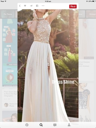 dress formal dress cream