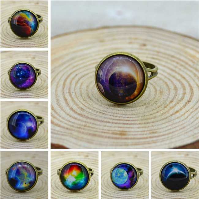 2014 New Fashion Vintage HARAJUKU galaxy ring Cabochon Ring,High quatily  best gift-in Rings from Jewelry on Aliexpress.com