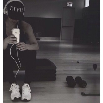 hat civil cap snapback black snapback fitness athletic black