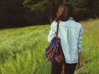 shirt bag blue girl wild