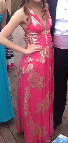 dress prom dress formal dress coral dress coral gold sparkles sparkly dress