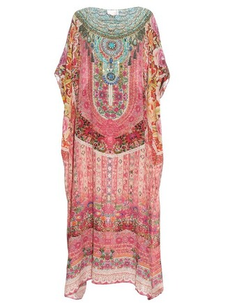 print silk pink top
