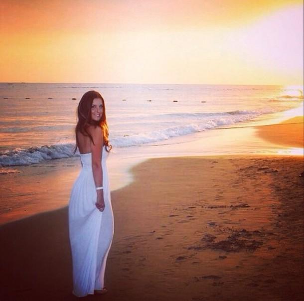 dress, white, beach, summer, instagram, maxi, maxi dress ...