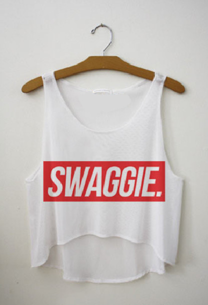 a5f0dd6f072 t-shirt, swag, swag, red and white, crop tops, blouse, flowy tank ...