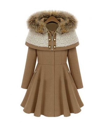 coat jacket warm cozy fur fashion style knitwear long sleeves winter outfits