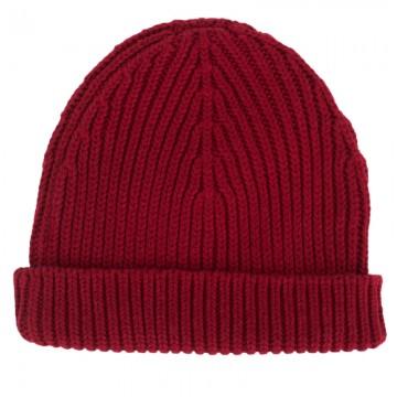 Petit Bateau Boys Red Knit Beanie Hat | AlexandAlexa