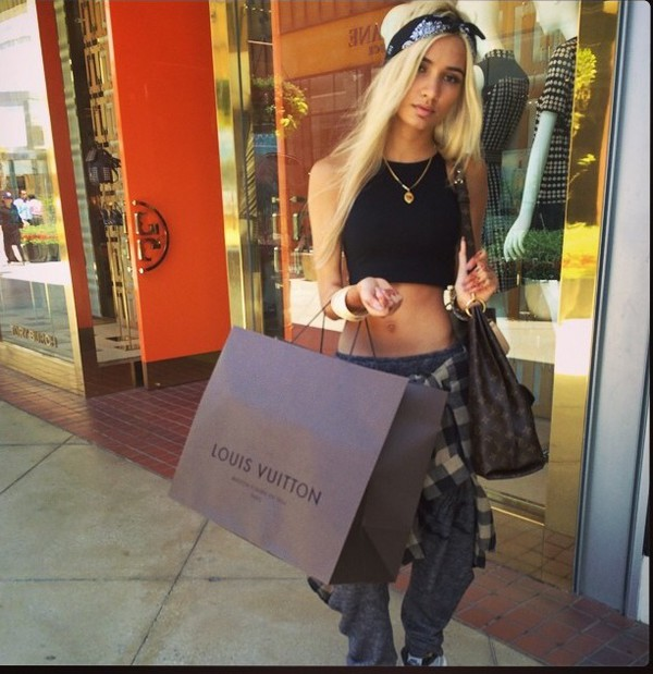 top pia mia perez pia mia perez pia mia perez hot style shopping clothes pia mia perez black crop top grey pants sweatpants