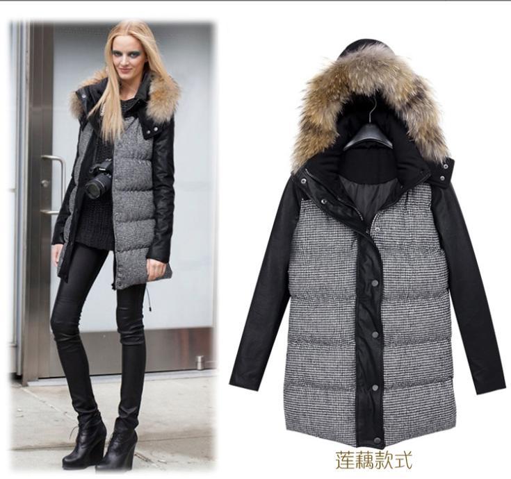 Hooded herfst 2013 europa stijl plus size vrouwen jasje van de laag, ganzendons jas, vrouwen parka, winter