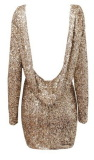 Halter Back Sequin Dress  - Juicy Wardrobe