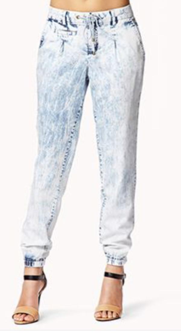 pants jean joggers nude heels