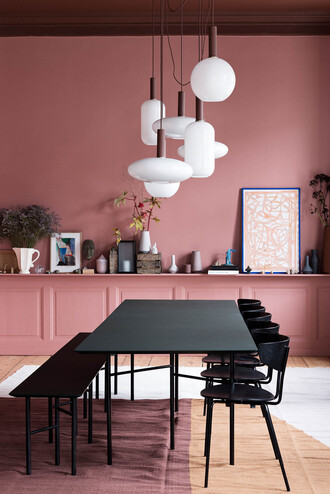 home accessory home decor home furniture dining room pink lamp wall decor decoration scandinavian nordic scandinavian style