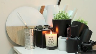 home accessory black white home decor beautiful minimalist sunglasses candle black candle plants terrarium desk organization cute tumblr ne ikea