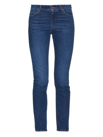 jeans skinny jeans high blue