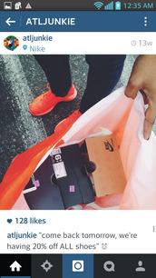 shoes,nike running shoes,nike roshe run,orange roshe runs floral