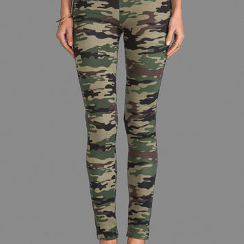 Plush Camo Print Legging in Green Camo on Wanelo