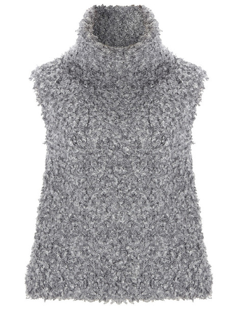 Vika Gazinskaya top sleeveless top sleeveless grey