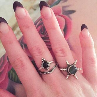 jewels shop dixi gypsy boho bohemian hippie grunge jewelry jewelery sterling silver ring onyx